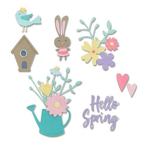 Sizzix Thinlits Die Set - 16PK Hello Spring 665091 Olivia Rose (01-21)