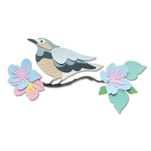 Sizzix Thinlits Die Set - 14PK Spring Bird 665093 Jenna Rushforth (01-21)