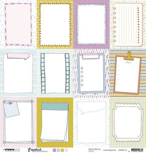 Studio Light  Essentials Planners Scrap Collection nr. 104 SCRAPSL116 304x304 mm 200gr (12-20)