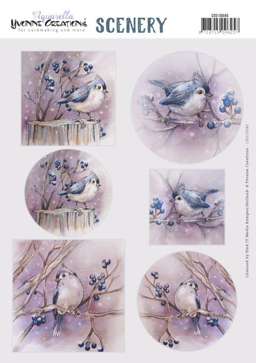 Scenery - Yvonne Creations - Aquarella -Birds