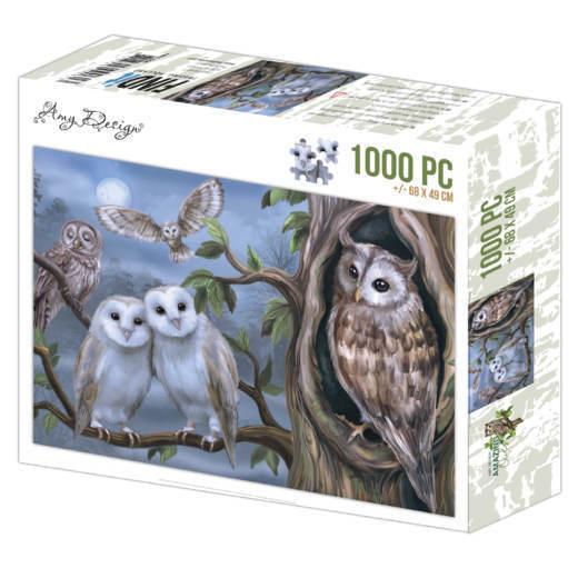 Jigsaw puzzel 1000 pc - Amy Design - Amazing Owls