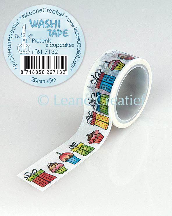 Washi tape Cadeautjes & Cupcakes, 20mm x5m.