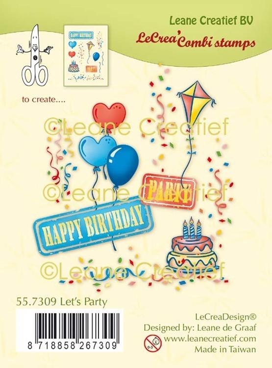 LeCreaDesign® combi clear stamp Feest