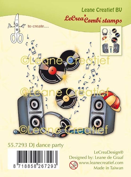 LeCreaDesign® combi clear stamp DJ dance party