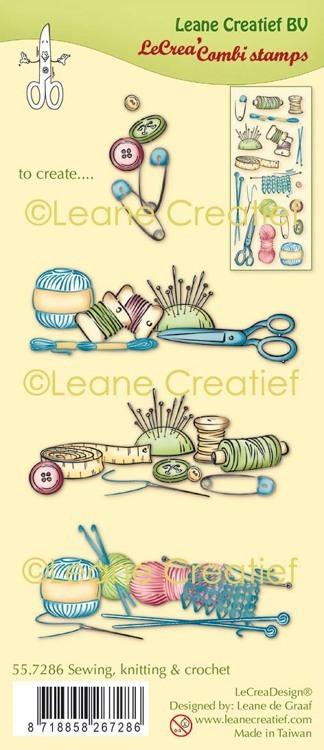 LeCreaDesign® combi clear stamp Naaien, breien & haken