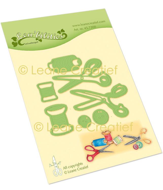 Leabilitie® Naaiwerk, draad-knopen-scharen snij en embossing mal