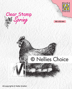 Clear Stamps Spring Mother hen