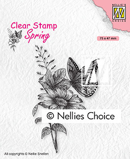Clear Stamps Spring Butterfly