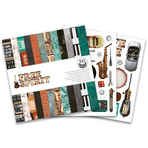 Piatek13 - Paper pad  Free Spirit, 6x6'' P13-FRE-09 (12-20)