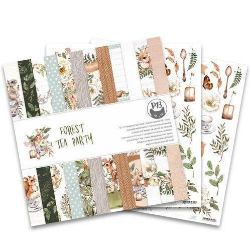 Piatek13 - Paper pad  Forest tea party, 12x12'' P13-FOR-08 (12-20)