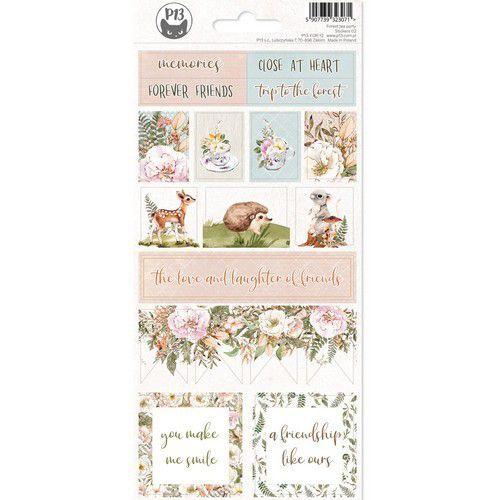 Piatek13 - Sticker sheet Forest tea party 02 P13-FRE-12 10,5x23cm (12-20)
