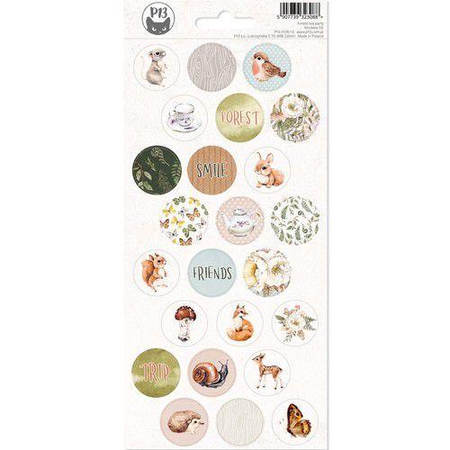 Piatek13 - Sticker sheet Forest tea party 03 P13-FRE-13 10,5x23cm (12-20)