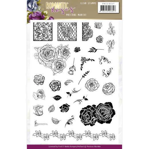 Clear Stamps - Precious Marieke - Romantic Roses