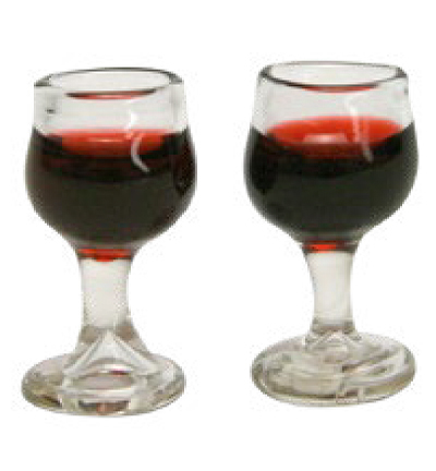 Miniatures, Glass of red wine