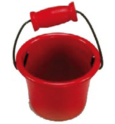 Miniatures, Bucket red