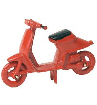 Miniatures, Moped red