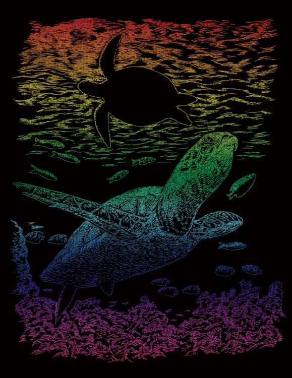 RAINBOW ENGRAVING SEA TURTLE
