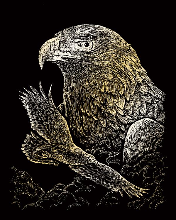GOLD ENGRAVING EAGLES