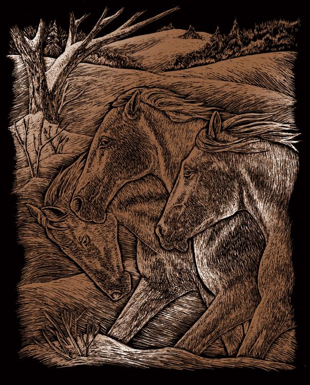 COPPER EA HORSE TRIO