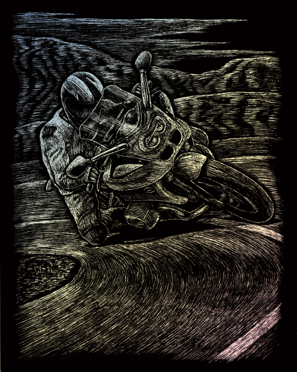 HOLOGRAPHIC ENGRAVING MOTORCYC