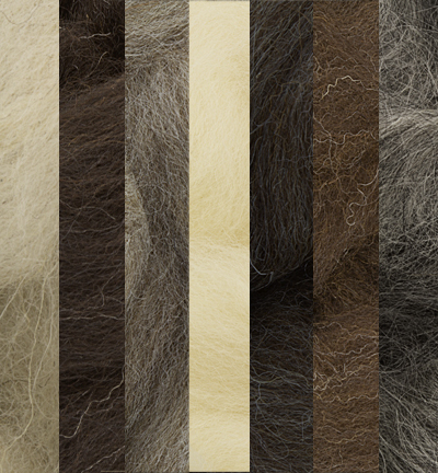 German merino wool extra thin, Assorti Natural