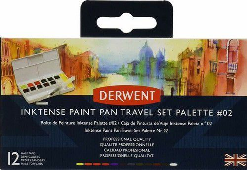 Derwent Inktense Paint Pan Travel Set #02 12 kleuren DIB2305789