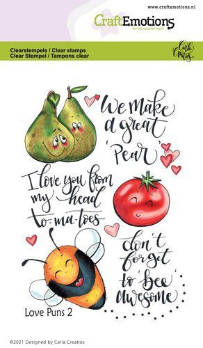CraftEmotions clearstamps A6 - Love Puns 2 Carla Creaties (01-21)