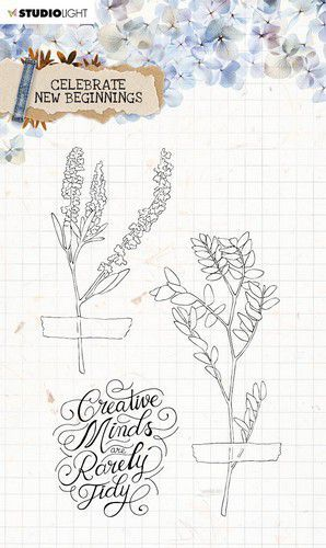 Studio Light Clear Stamp Celebrate new beginnings nr.515 STAMPCNB515 A5 (01-21)