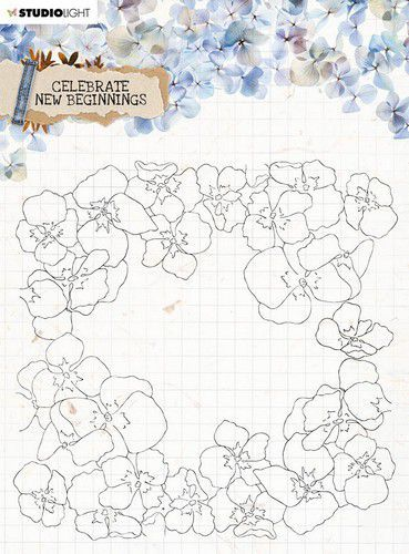 Studio Light Clear Stamp background Celebrate new beginnings nr.518 STAMPCNB518 150x150mm (01-21)