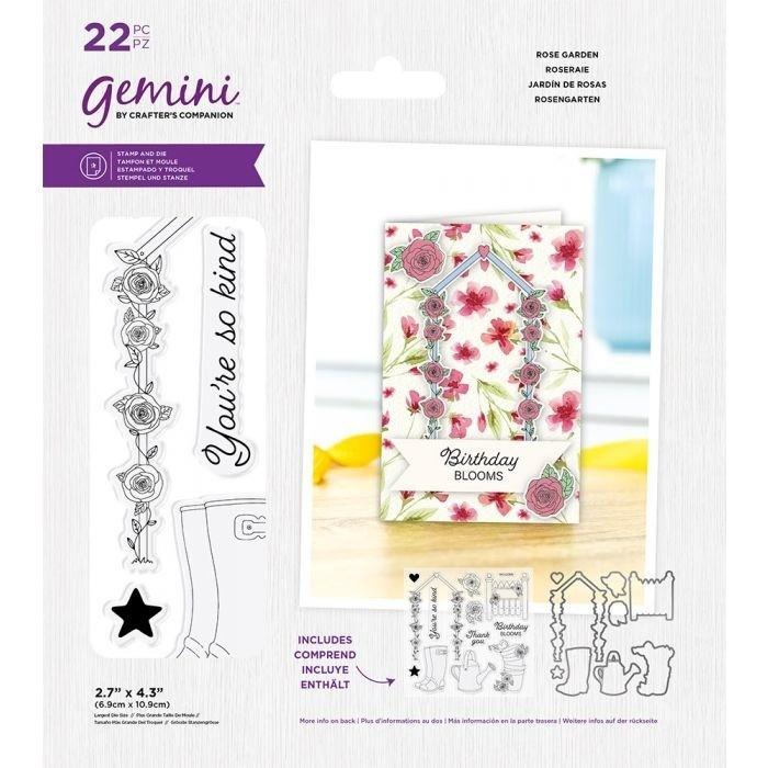 Gemini - Clearstamp&Snijmallen set - Best Of British Rose Garden