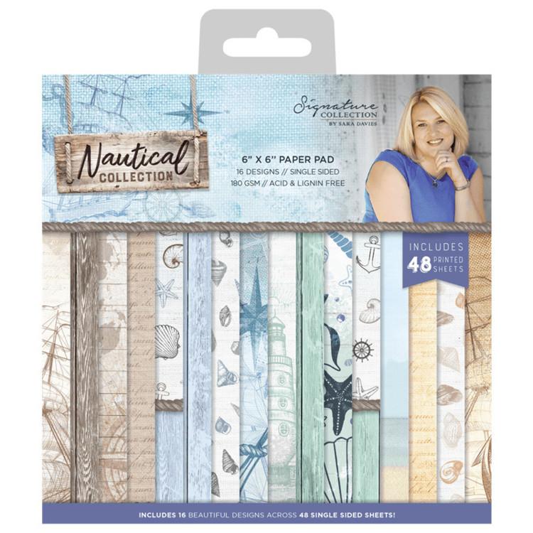 Sara Signature Collection Nautical - Paper Pad 20x20 cm