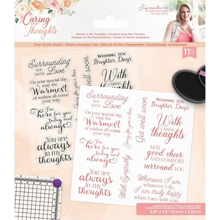 Caring Thoughts - Clearstamp - Always in my Thoughts