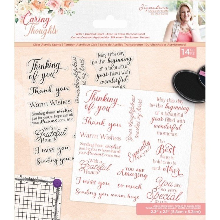 Caring Thoughts - Clearstamp - With a Grateful Heart