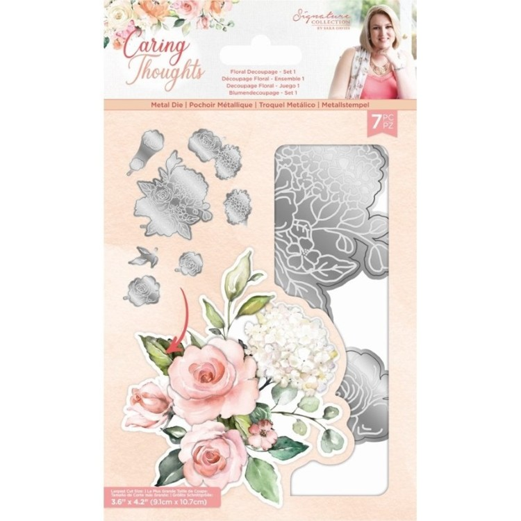 Caring Thoughts - Snijmal - Floral Decoupage Set 1