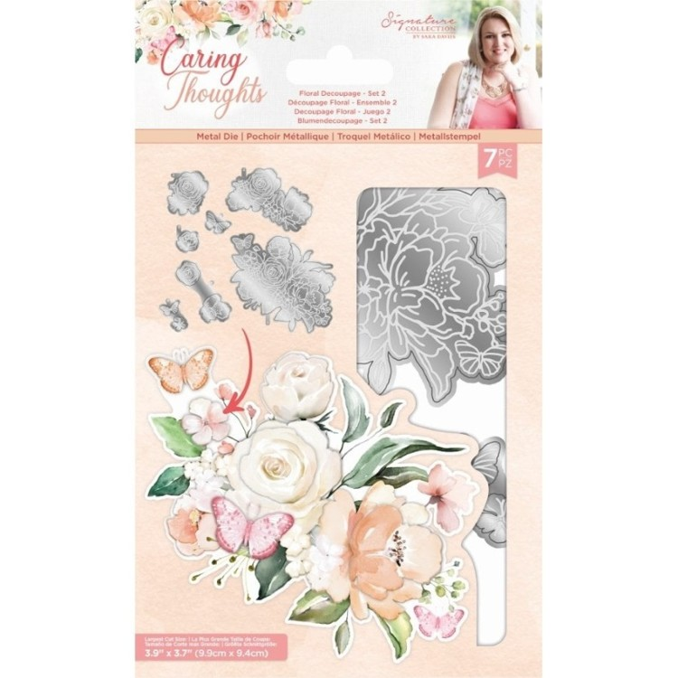 Caring Thoughts - Snijmal - Floral Decoupage Set 2