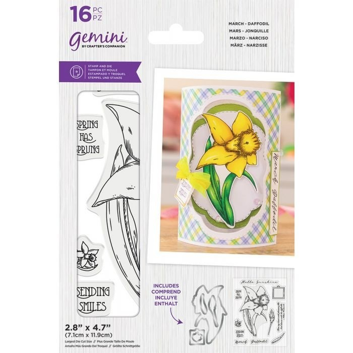 Gemini - Clearstamp&Snijmallen set - March - Daffodil