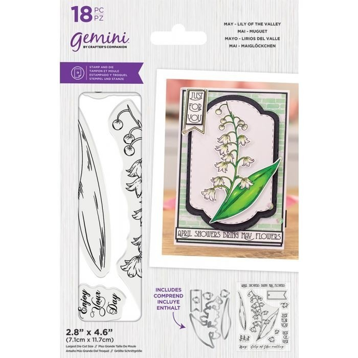 Gemini - Clearstamp&Snijmallen set - May - Lily of the Valley