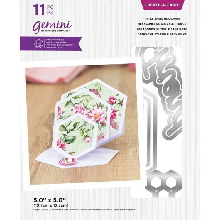 Gemini - Create A Card Snijmal - Triple Easel Hexagons