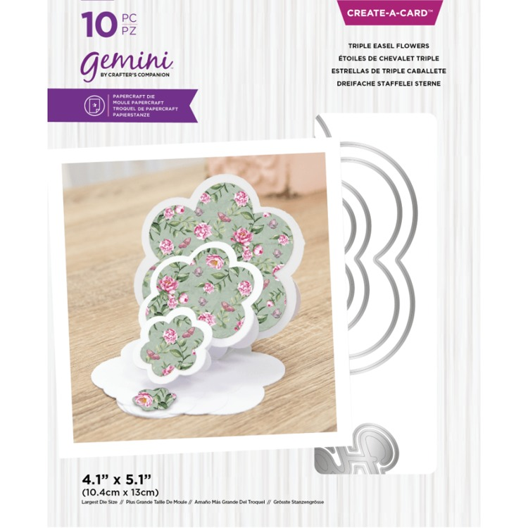 Gemini - Create A Card Snijmal - Triple Easel Flowers