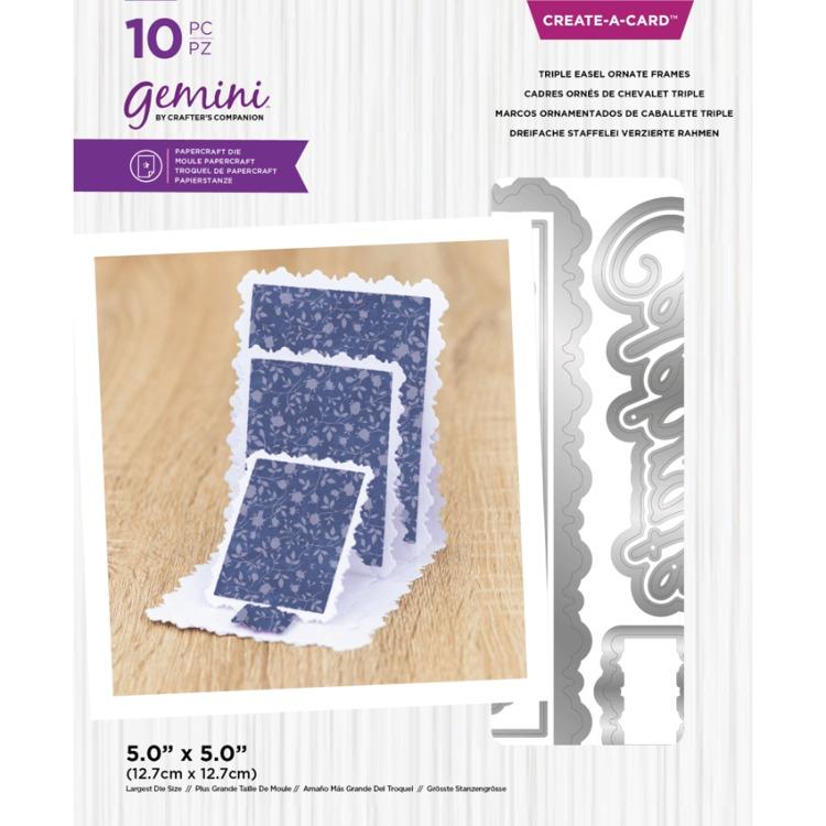 Gemini - Create A Card Snijmal - Triple Easel Ornate Frames