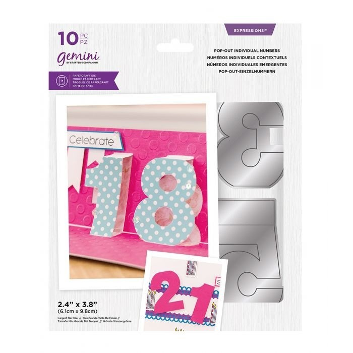 Gemini - Expressions Snijmal - Pop-Out Individual Numbers