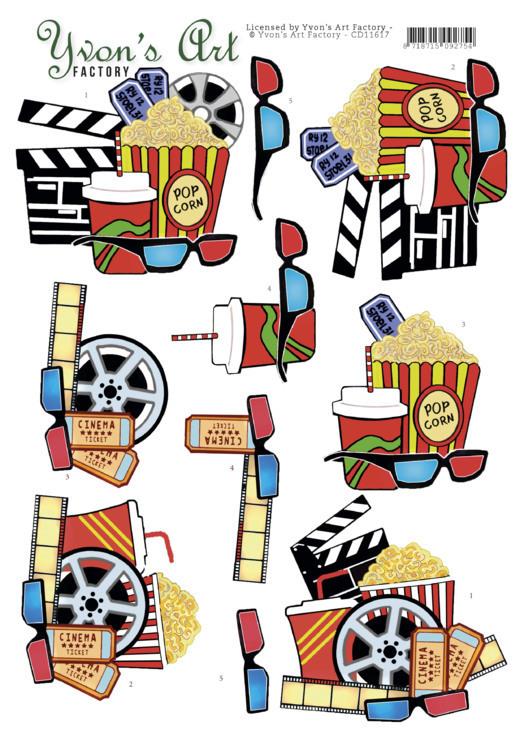 3D Cutting Sheet -Yvon's Art -Cinema
