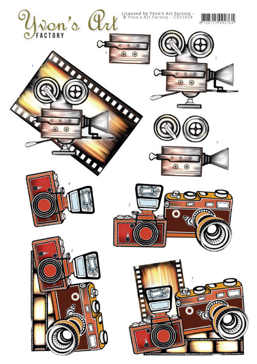 3D Cutting Sheet - Yvon's Art - Camera