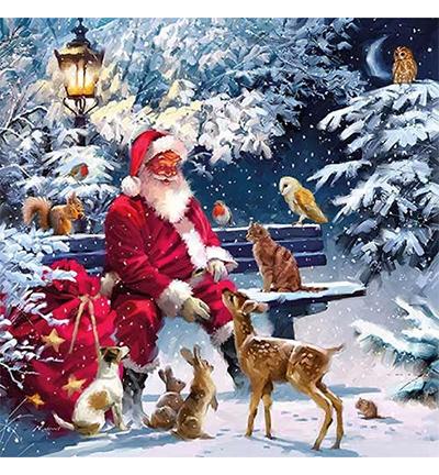 Santa On Bench