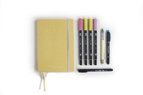 Tombow Creative Journaling Kit Pastel - pastelgeel BUJO-SET2 Sara Vázquez (01-21)