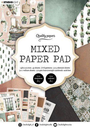 Studio Light Mixed Paper Pad Pattern paper Essentials nr.157 A5MPPSL157 A5 (03-21)