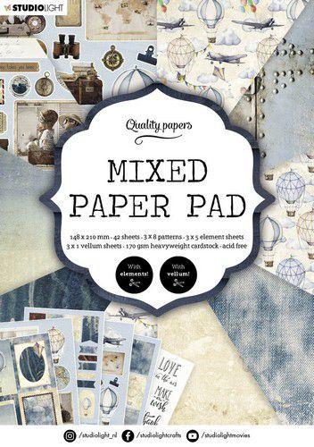 Studio Light Mixed Paper Pad Pattern paper Essentials nr.162 A5MPPSL162 A5 (03-21)