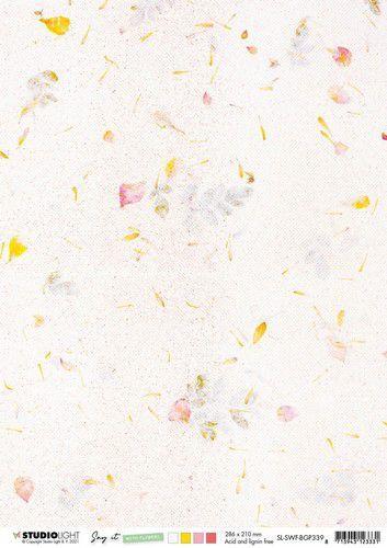 Studio Light Achtergrond papier Paper Say it with flowers nr.339 SL-SWF-BGP339 A4 (03-21)