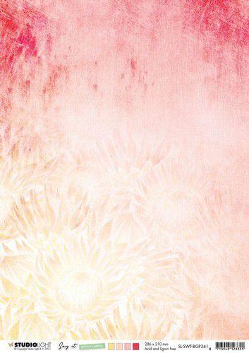 Studio Light Achtergrond papier Paper Say it with flowers nr.341 SL-SWF-BGP341 A4 (03-21)