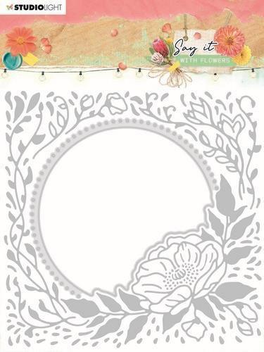 Studio Light Emb. Folder & Cutting Die Say it with flowers nr.12 SL-SWF-EMBCD12 150x150mm (03-21)